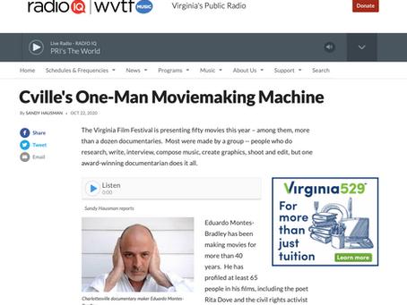 NPR | Cville's One-Man Moviemaking Machine
