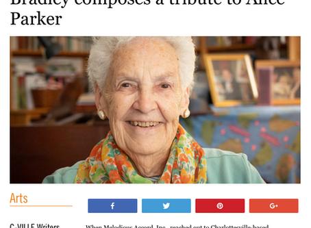 Wisdom & Love: Montes-Bradley composes a tribute to Alice Parker