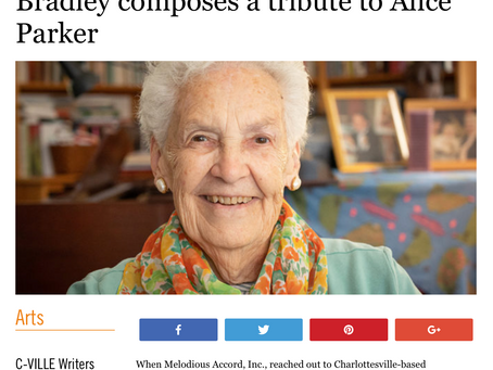 Wisdom & Love: Montes-Bradley composes a tribute to Alice Parker