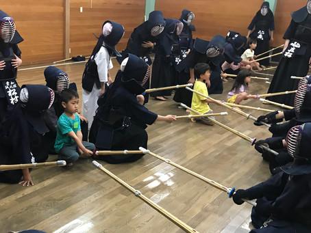 剣道体験教室開催しました。