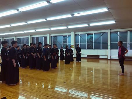 中学生錬成会を開催しました。