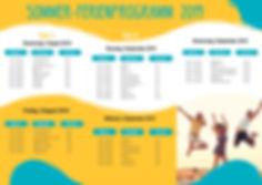Sommer-Ferienprogramm 2019 Tanzschule Ex