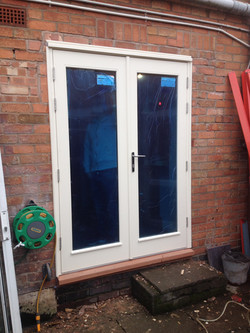 softwood, french door set