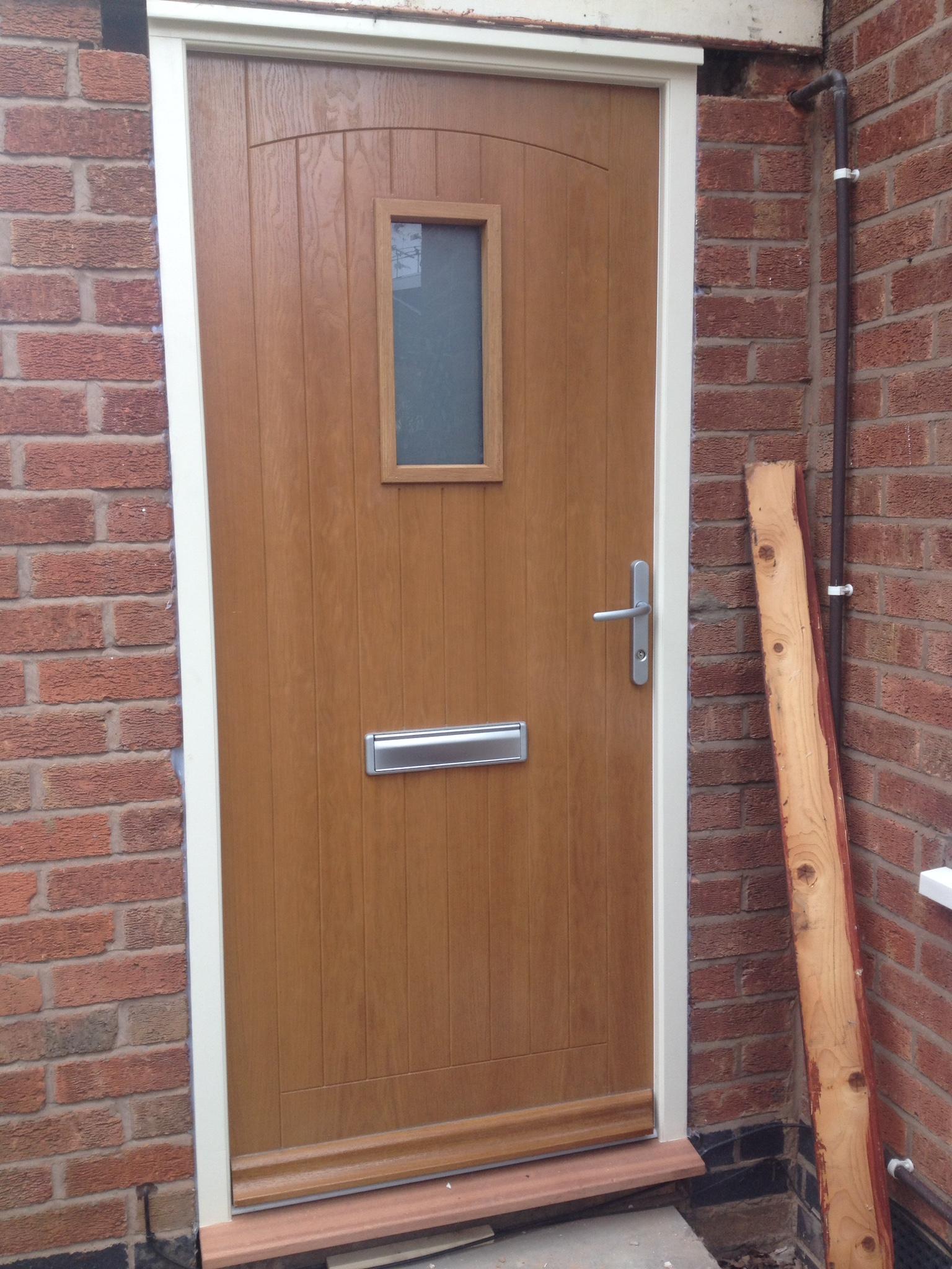 oak front door set
