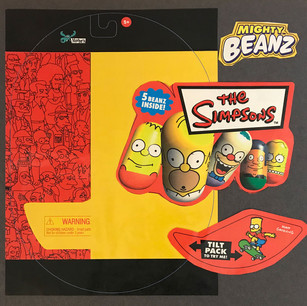 Licensed Simpsons Mighty Beans Blister Pack (3D)
