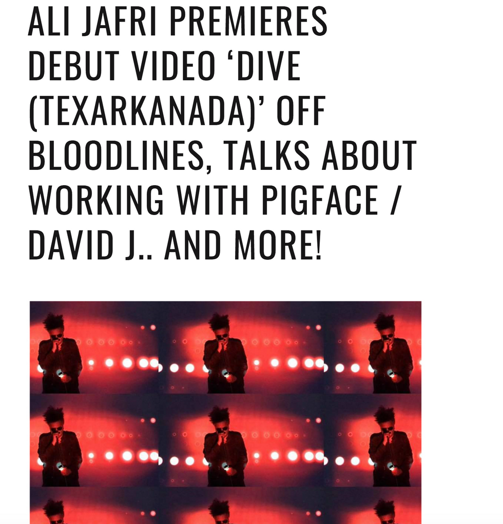 Video Release & Torched Magazine Interview with Ali Jafri