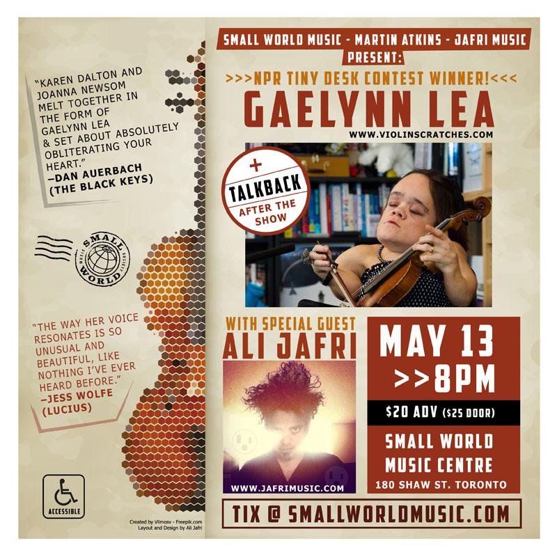 Gaelynn Lea + Ali Jafri May 13th 2018