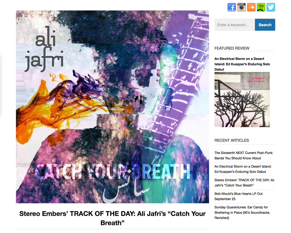 """CATCH YOUR BREATH"" Stereo Embers Magazine's TRACK OF THE DAY!"