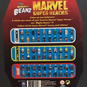 Licensed Marvel Might Beans Blister Pack (back)