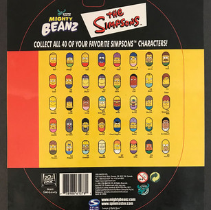 Licensed Simpsons Mighty Beans Blister Pack (back)