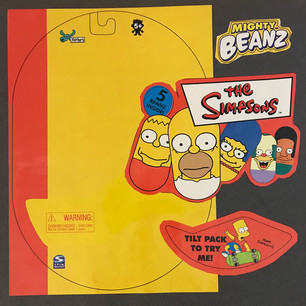 Licensed Simpsons Mighty Beans Blister Pack (2D)