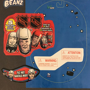 Licensed NHL Mighty Beans Blister Pack