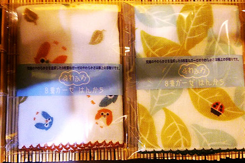 ふわふわガーゼハンカチ Cotton hand kerchief