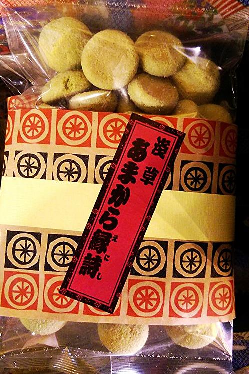 めろんパン風味のマコロン Macaron coated with melon flavored