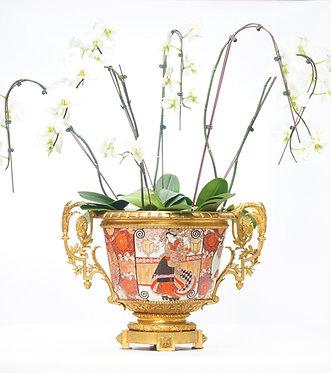 19th c. Imari Bowl with Doré Bronze Mounts