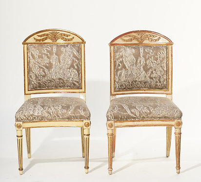 (12)....19th c. Italian Giltwood Dining Chairs