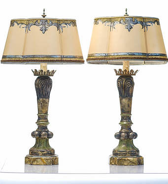 20th c. Italian Style Painted Lamps