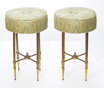20th c. French Diminutive Brass Stools