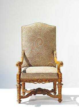 19th c. Italian Walnut Throne Chair