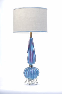 20th c. Italian Opaline Periwinkle Lavender Murano Lamp SOLD