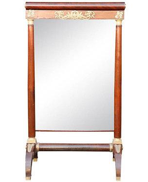 19th c. French Mahogany Empire period Mirror