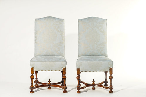 19th c. Italian Walnut Dining Chairs (Set of 8)