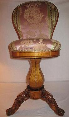 19th c. Biedermier Swivel Chair