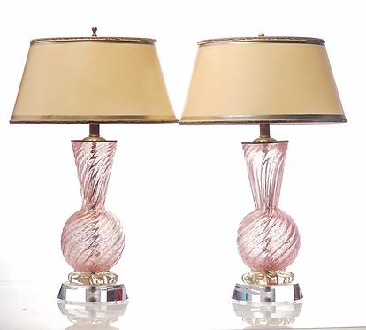 20th c. Italian Murano Lamps