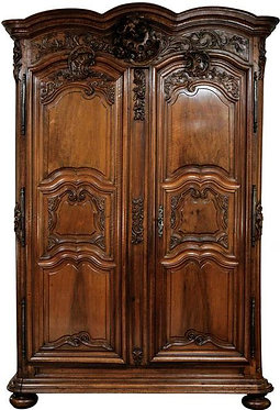18th c. French Walnut Armoire