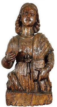 16th c. Italian Carved Walnut Statue