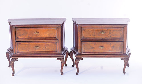19th c. Italian Walnut Commodes