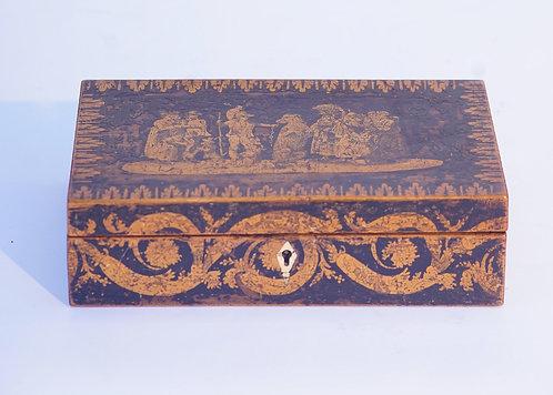 19th c. English Penwork Box