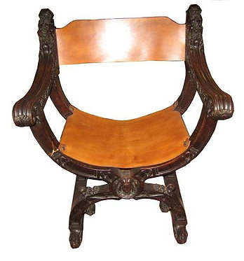 19th c. Carved English Chair