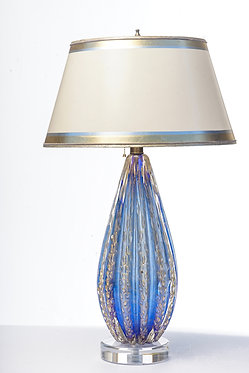 Single Blue Oro Murano Lamp