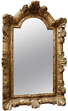 18th c. Regence French Carved Giltwood Mirror