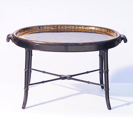 19th c. English Paper Mache tray table