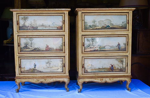 20th c. Italian Painted Chests