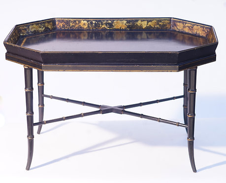 19th c. English Paper Mache Tray Table