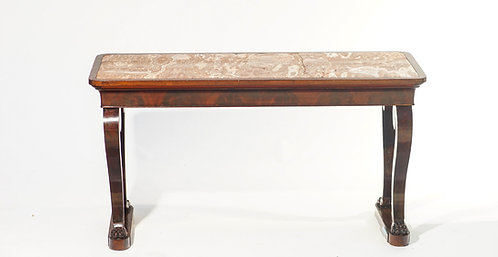 19th c. French  Marble top Console with Paw Feet