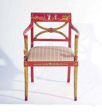 20th c. Designer  Chinoiserie Armchair