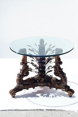 19th c. Carved Walnut Table