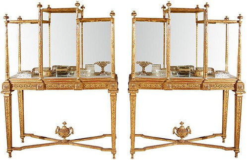 19th c. French Giltwood Vitrines