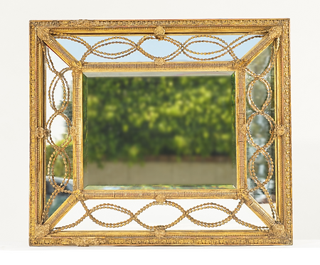 19th c. French Giltwood  and Gesso Mirror