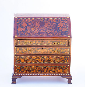 19th c. English Slant Front Commode with Mother of Pearl Inlay