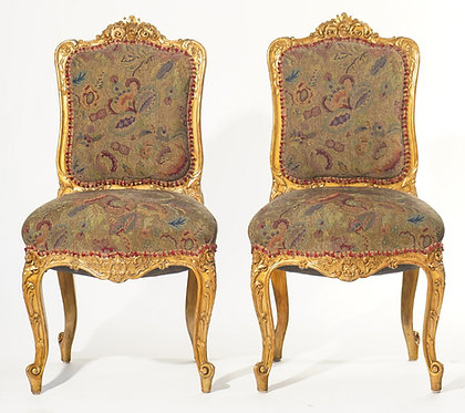 19th c. French Giltwood Side Chairs (Set of 4)