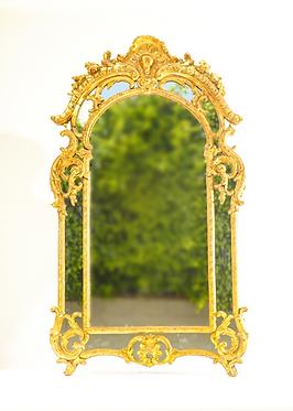 19th c. French Regence Giltwood Mirror