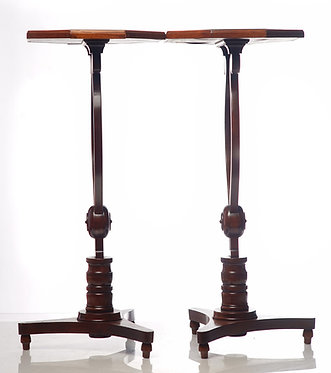 20th c. English Octagonal Tables with Mirrored Tops
