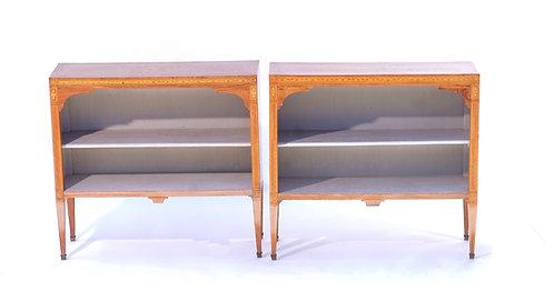 19th c. Italian Inlaid Book Shelves