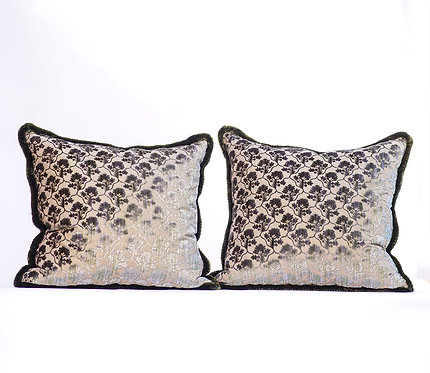 Pair of Silk Velvet Pillows