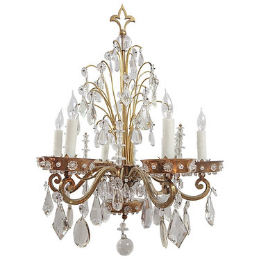 1920's French  Bagues Crystal Chandelier